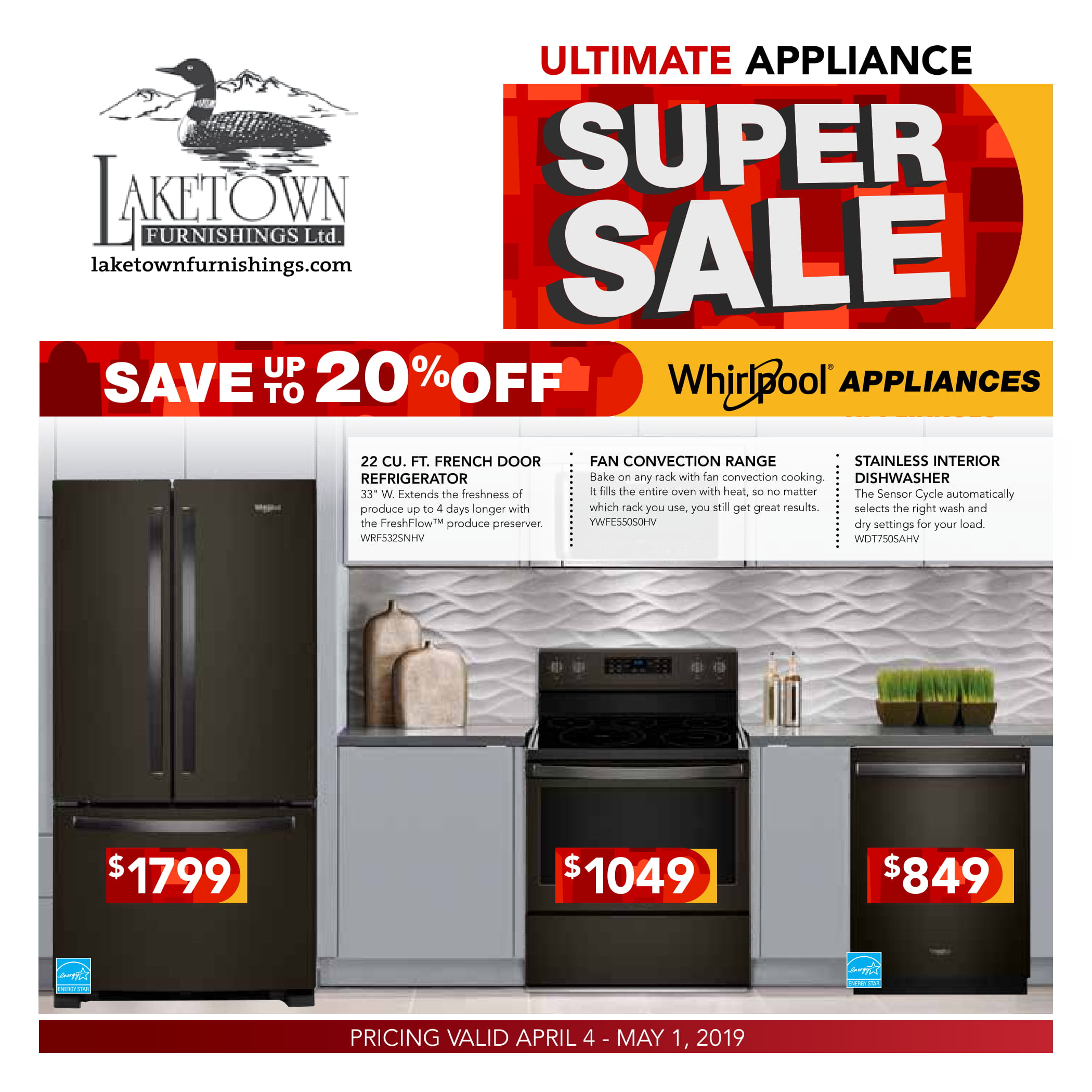 Whirlpool appliances April